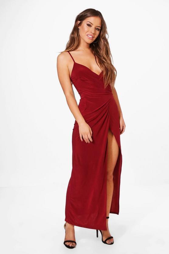b62cb3d18907 Petite Wrap Strappy Maxi Dress | prom | Pinterest | Strappy maxi ...