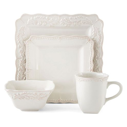 Buy JCPenney Home™ Amberly 16-pc. Square Dinnerware Set today at jcpenney.  sc 1 st  Pinterest & Buy JCPenney Home™ Amberly 16-pc. Square Dinnerware Set today at ...