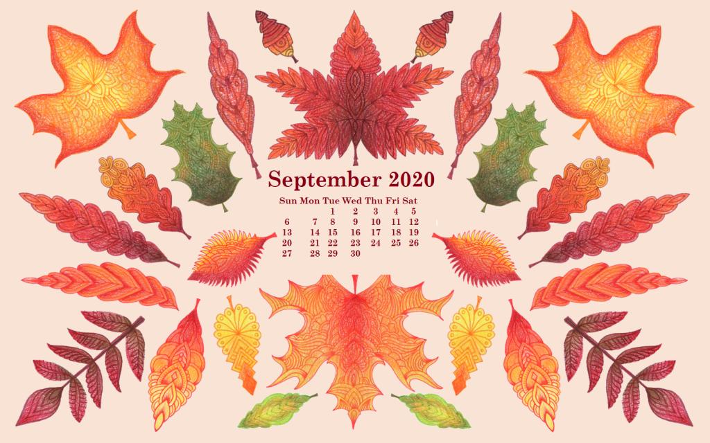 September 2020 Desktop Calendar Wallpaper In 2020 Desktop Wallpaper Calendar Calendar Wallpaper September Calendar