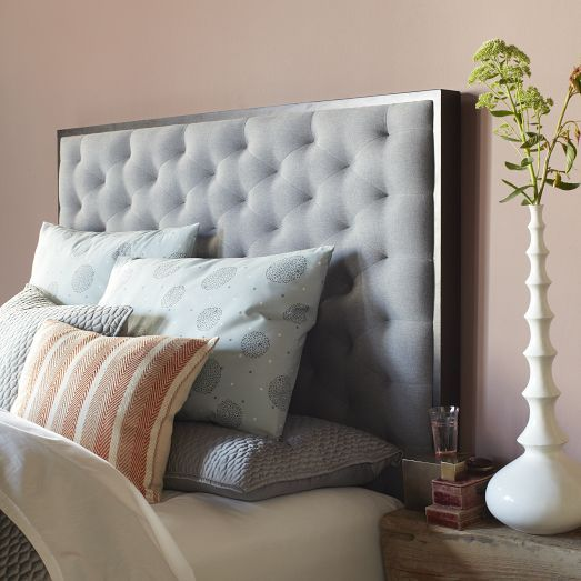Tilden Headboard West Elm Onless Diamond Tufting Provides A Luxurious Finishing Touch Chocolate