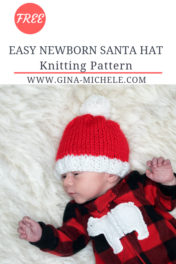 FREE knitting pattern for this Newborn Santa Hat. Beginner friendly!   knittingpattern  knitting 6008349f7d4