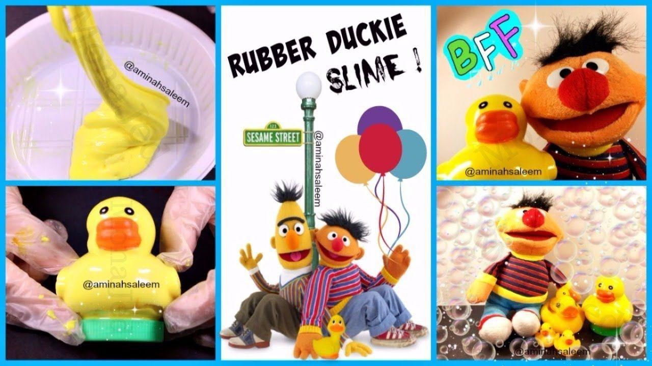 Rubber Duckie Slime Sesame Street طريقة عمل اسلايم Sesame Street Rubber Ducky Ducky
