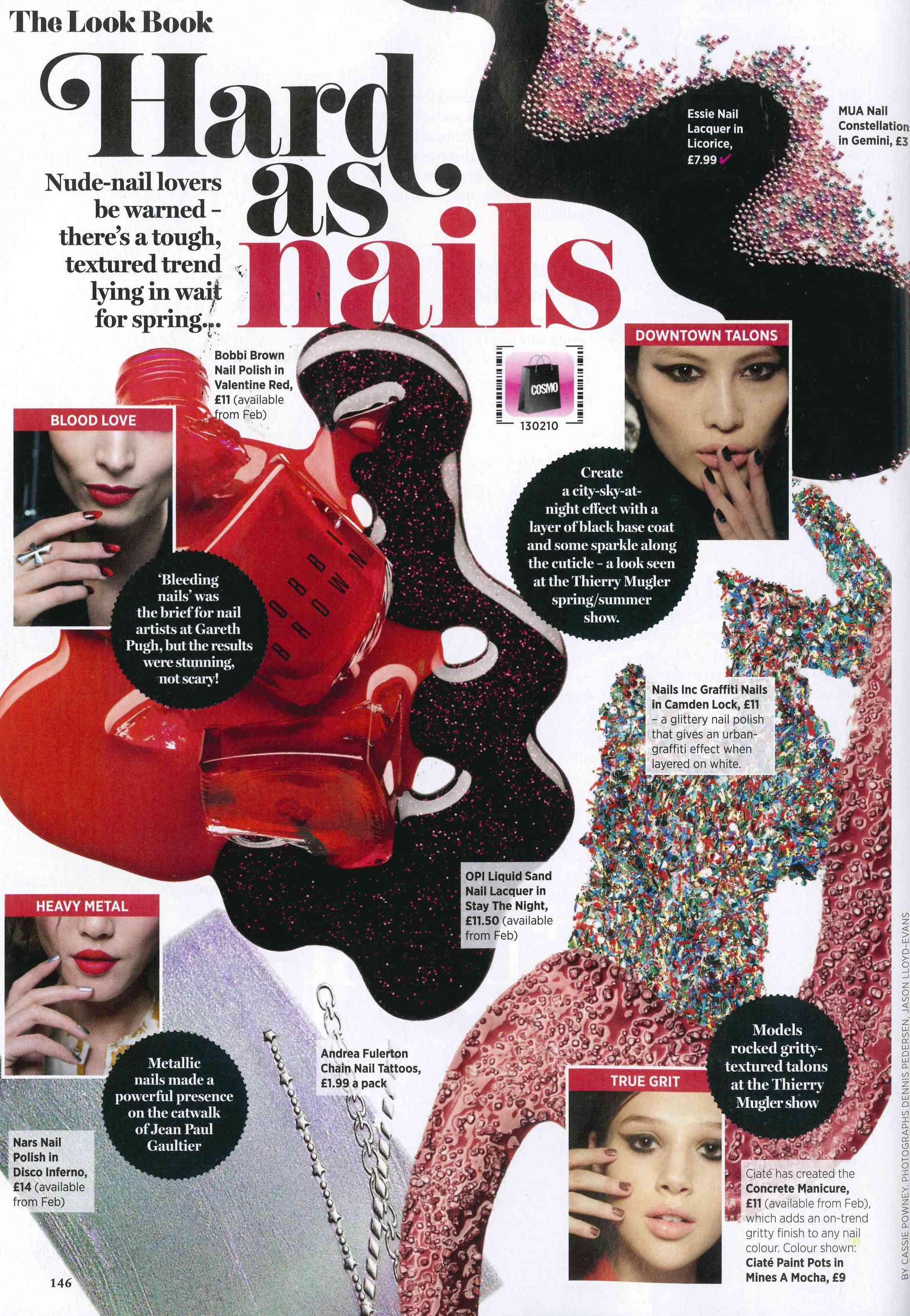 Ciate Featured In Cosmopolitan Magazine (February 2013