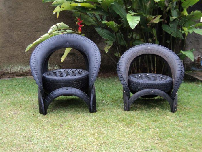 gartenideen zum selber machen gartenmöbel alte autoreifen coole, Gartenarbeit ideen