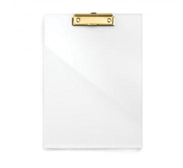clean and simple acrylic clipboard