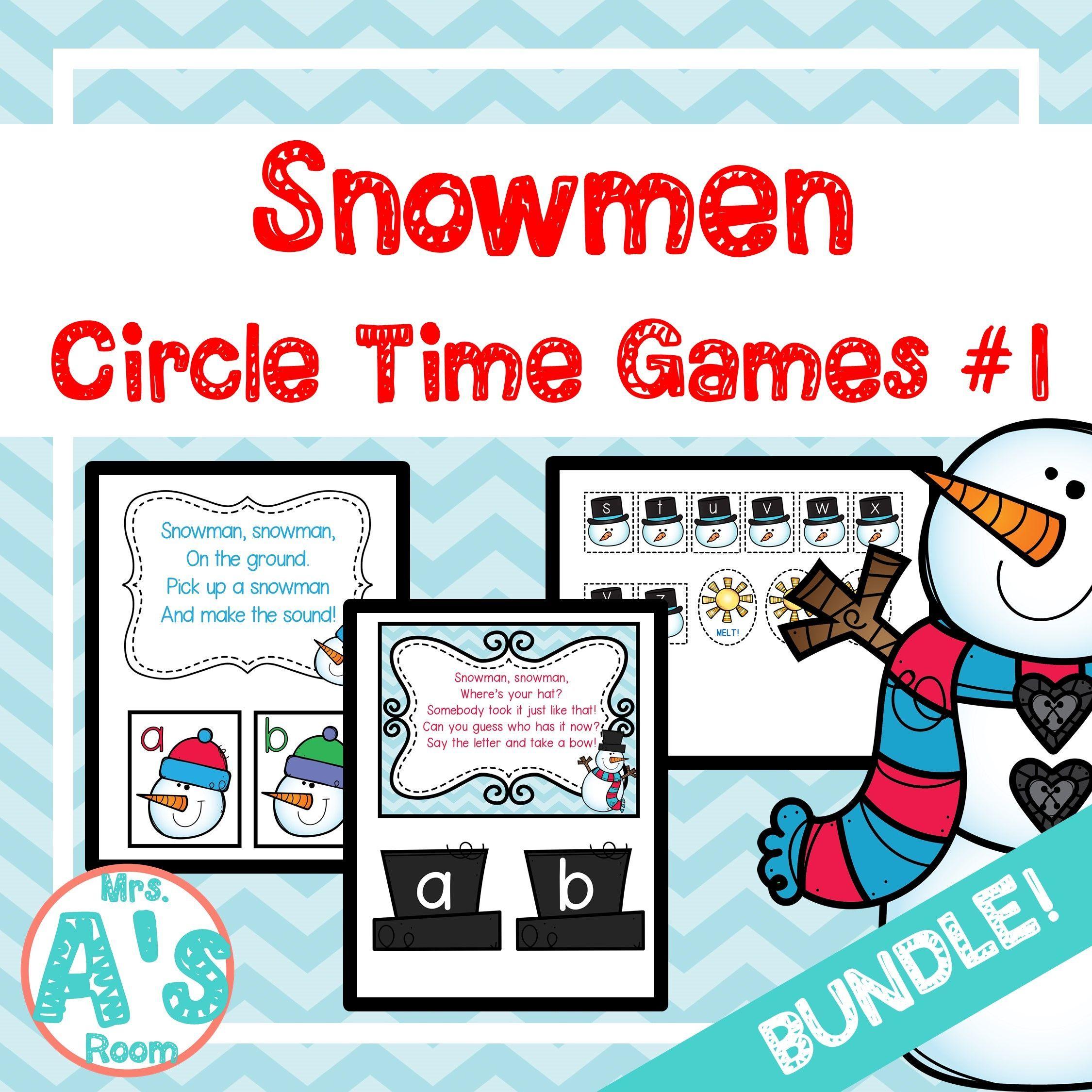 Snowmen Circle Time Activities Set 1 Bundle
