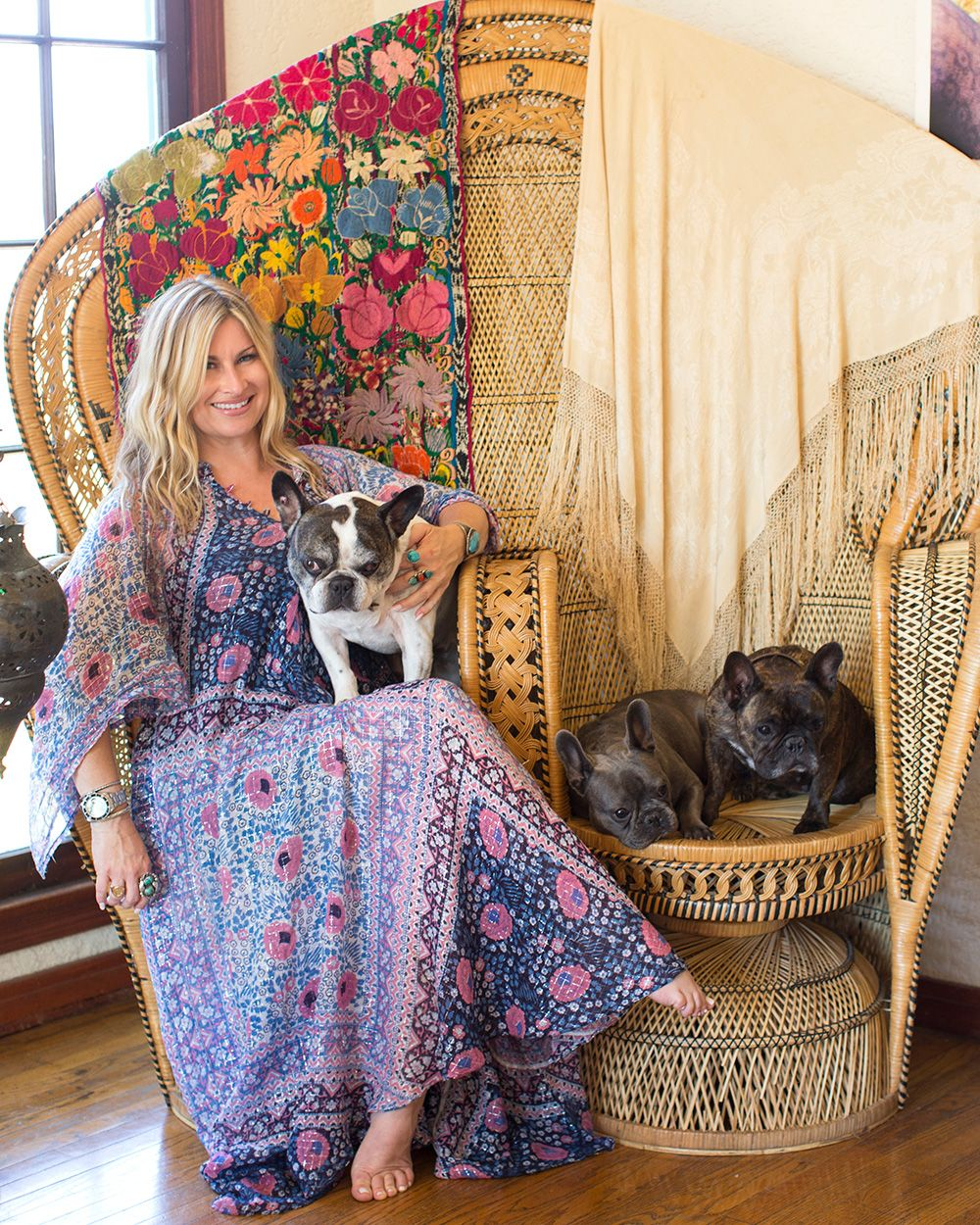 Vanessa's Vintage Bohemian Hilltop Home - OK this is a house tour, but really I want that dress.