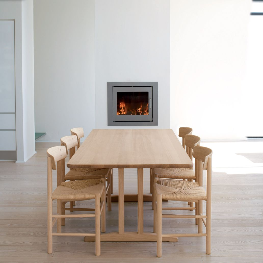 Modern shaker furniture - This Is B Rge Mogensen S Shaker Table With 6 Of His Chairs Table Surface Is 900 X 1800 Mm