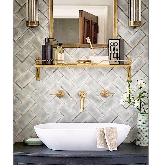 Ashleydarryl On Instagram If Someone Asked Me What My Perfect Bathroom Would Look Like This Wo Patterned Bathroom Tiles Bathroom Inspiration Bathroom Decor
