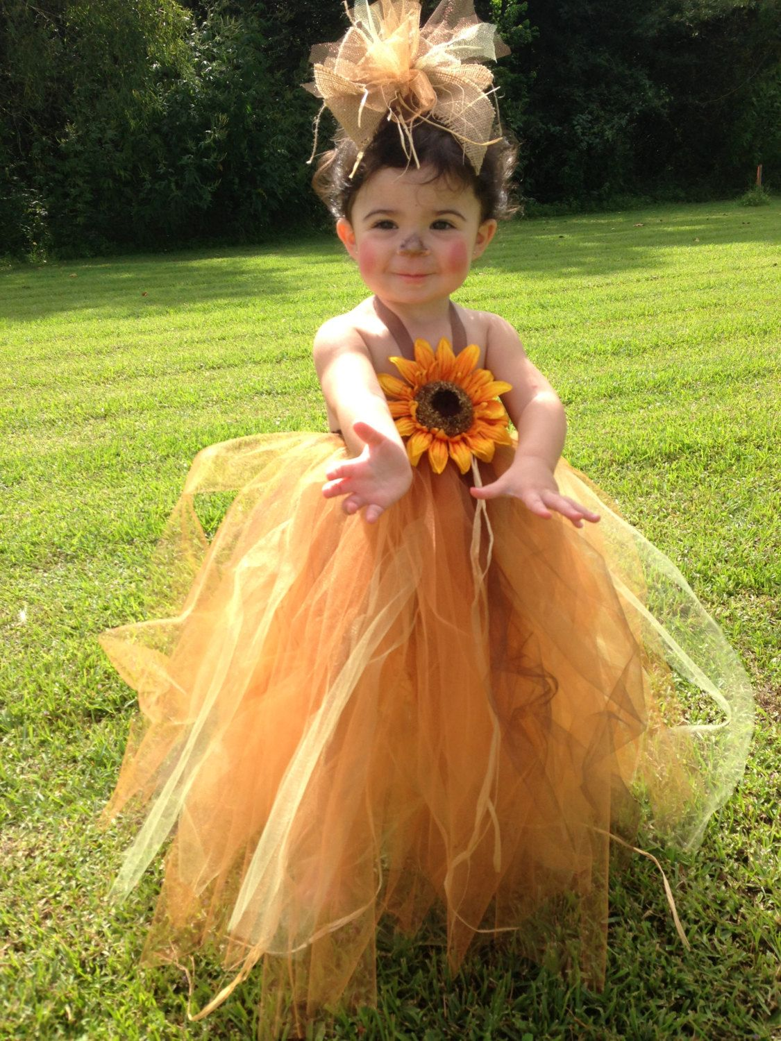 Scarecrow Tutu Costume. Dress only by BellasSouthernCrafts
