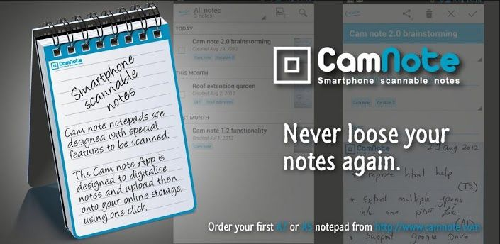 Camnote For Iphone And Android Great Way To Upload Notes To