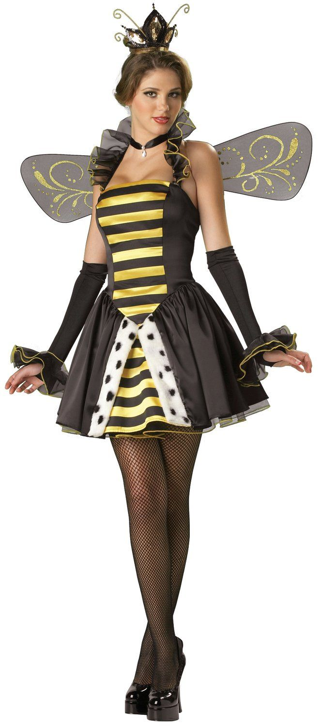 Queen Miss-Bee-Have Adult Bumble Bee Costume Bumble Bee Costumes ...
