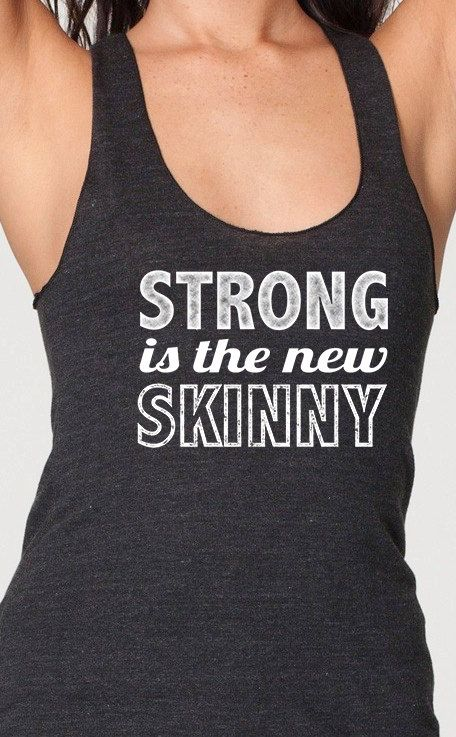 5b839aac2df9b Strong is the new skinny womens ladies racerback workout tank top ...