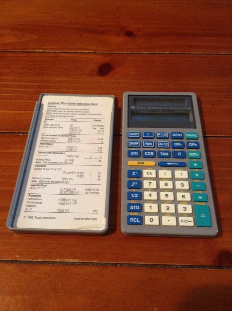 Explorer Plus Texas Instruments Scientific Calculator (Free SHIPPING