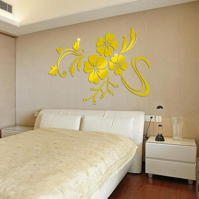 3d Mirror Mural Decal wall stickers room decorations wall art mirror ...