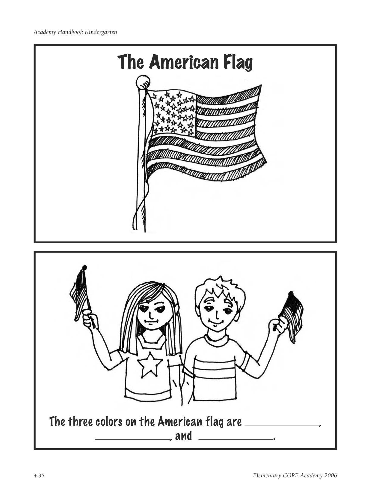 The Pledge of Allegiance – American Flag Worksheet