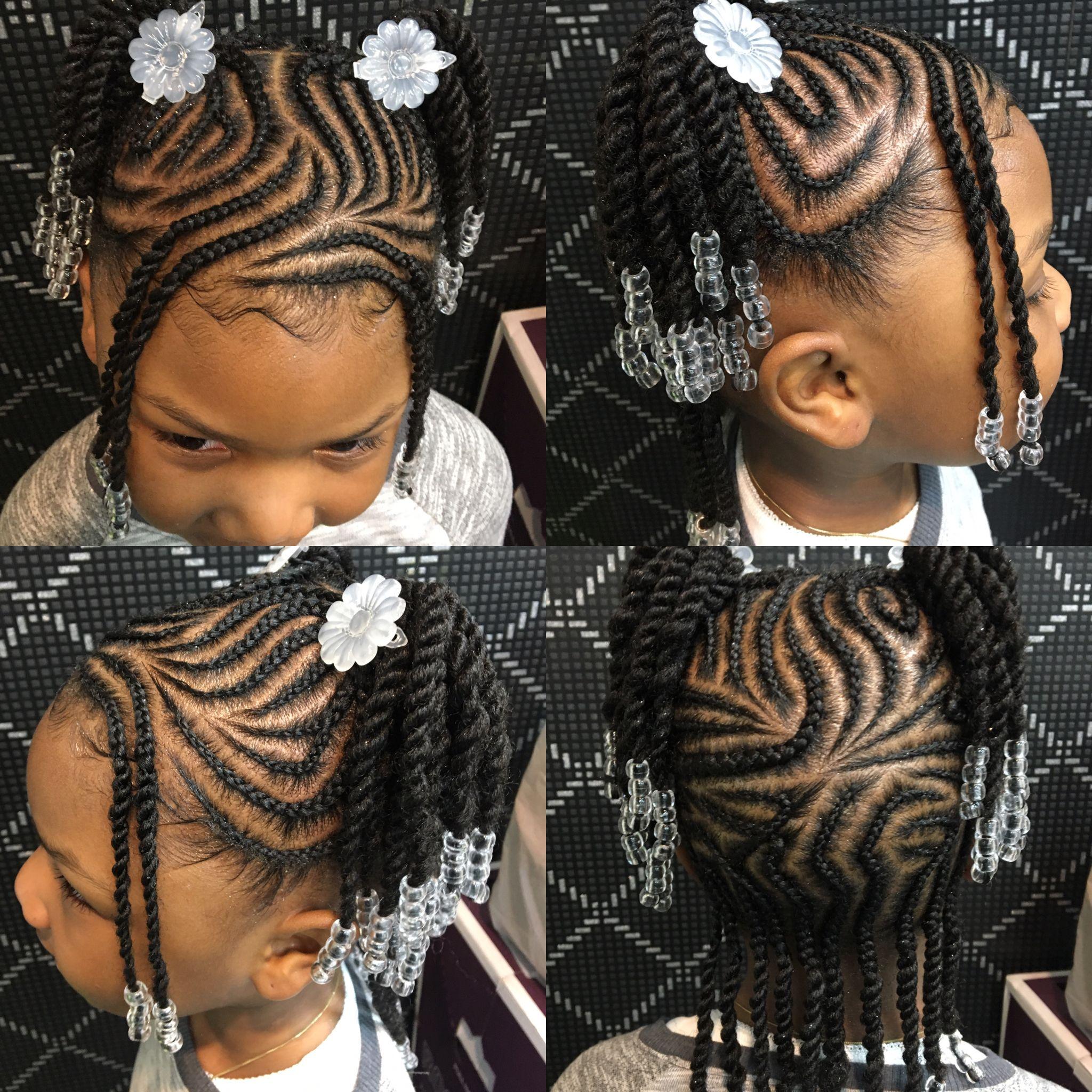 Braids With Design And Beads Kidshair Braidstyles Kids