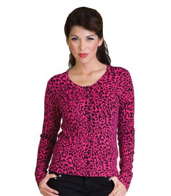 Voodoo Vixen Pink Leopard Cardigan Sweater | My Pinup closet ...