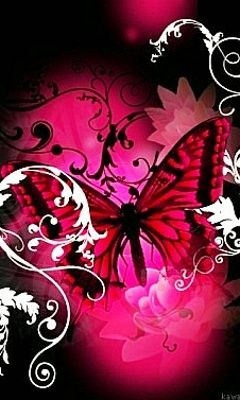Download Pink Black Butterfly 11146 Abstract Mobile Wallpapers Butterfly Wallpaper Butterfly Wallpaper Iphone Abstract