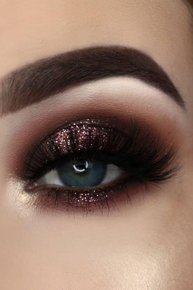 Für immer wunderschöne Hochzeit Augen Make-up-Ideen eas Weitere Informationen: www.weddingfor... #glittereyemakeup