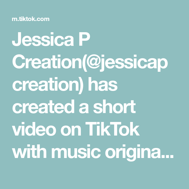 Jessica P Creation Jessicapcreation Has Created A Short Video On Tiktok With Music Original Sound The Presutti Express I Music Do The Originals Music