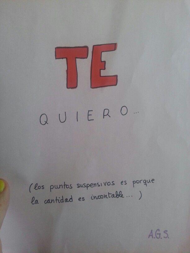 Te quiero...