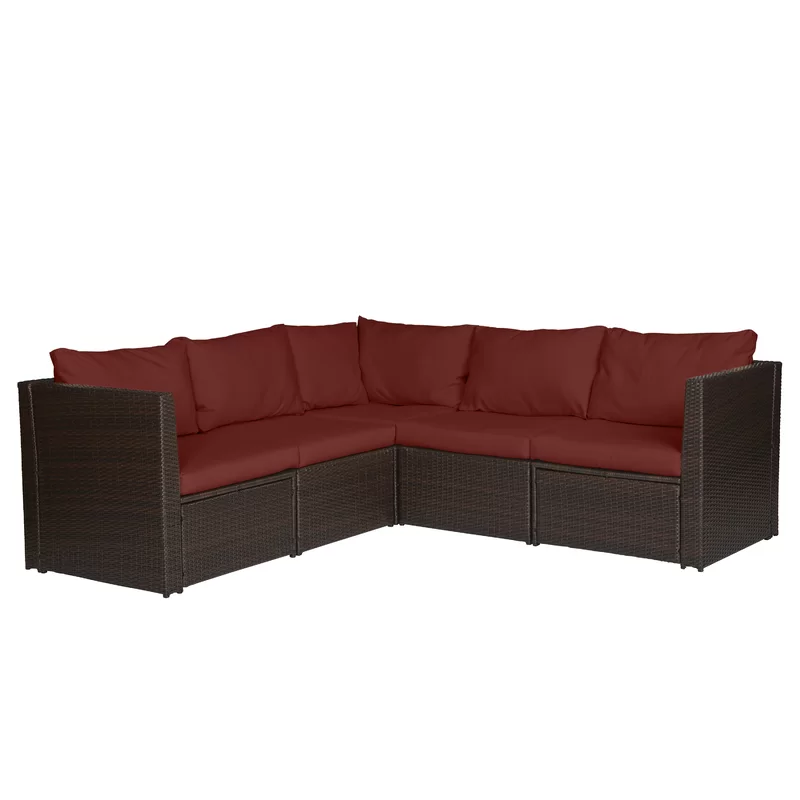 Larsen Patio Sectional With Cushions Cushions For Sale Brown