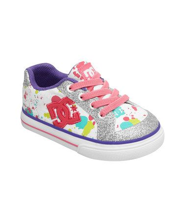 0edb623594464 Help that little gal be the most stylish at the half-pipe with this  sparkling pair of sneaks. Sporting a cushioned design and perforations at  the toe for ...