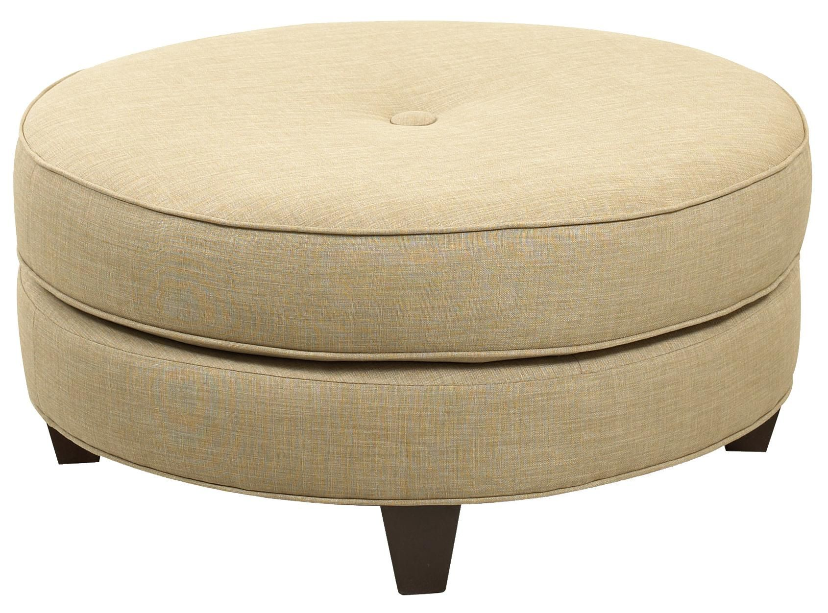 Ottoman Design Option 6 Single Button Tufted With Welting Details
