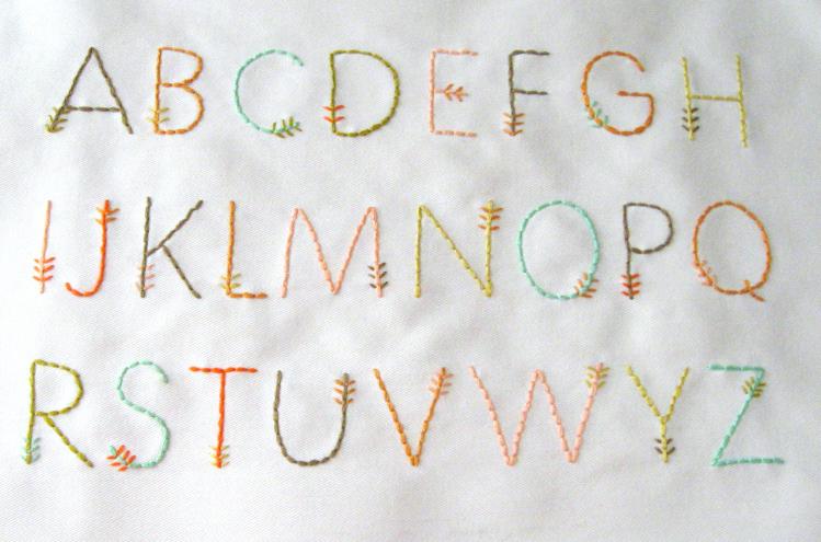 Stitched Arrow Alphabet