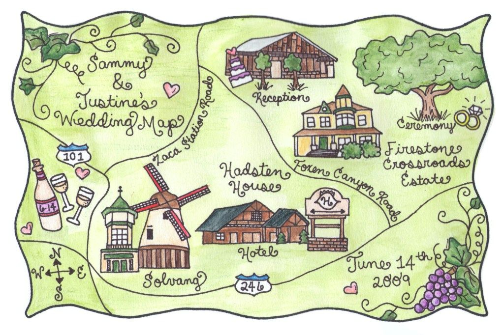 More outdoorsy wedding map