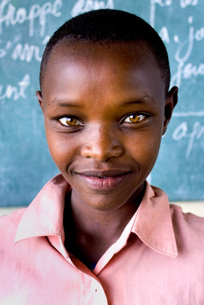 Amber Colored Eyes In Young African Girl Most Beautiful Eyes