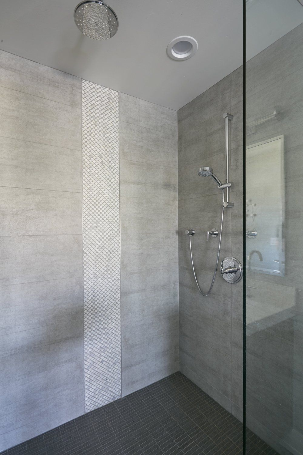 Marble Scallop Tile Marble Fan Tile Master Bathroom Idea