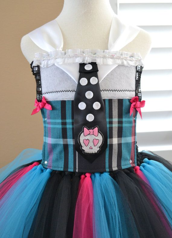 Removable Front Piece Add On - Monster High Frankie Stein Top - for your Tutu Dress!