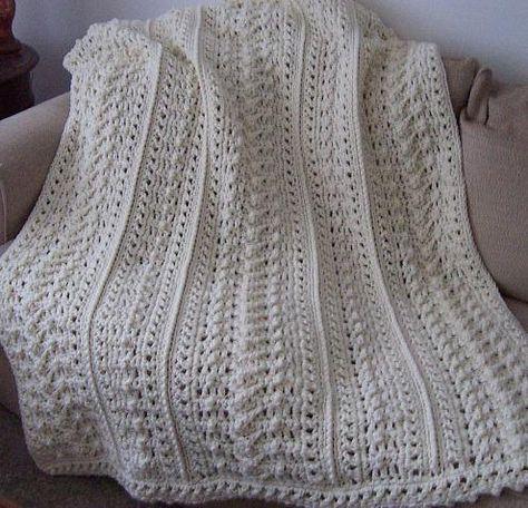 Pattern Only Weekender\'s Aran Fisherman Crochet afghan blanket ...