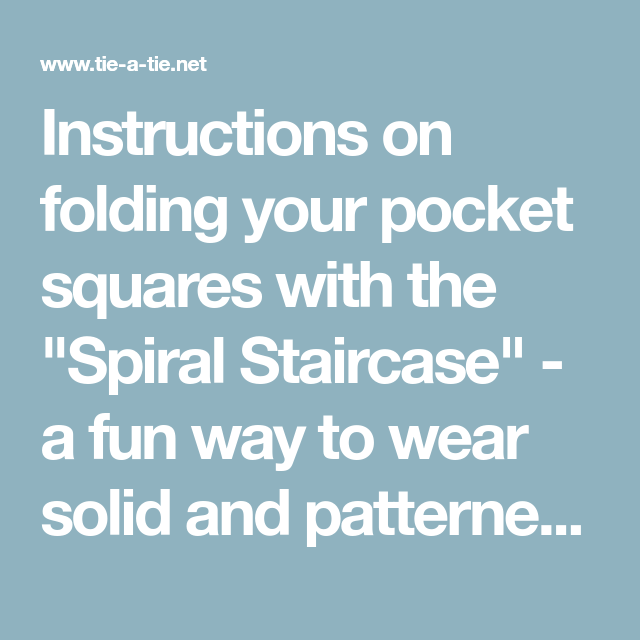 Best Instructions On Folding Your Pocket Squares With The 400 x 300