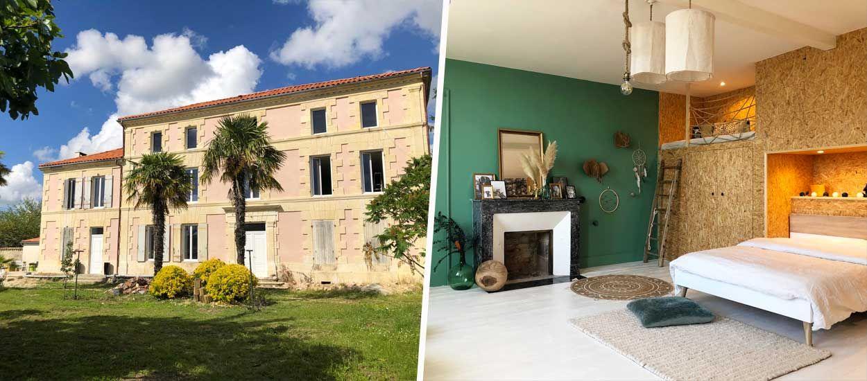 Avant Apres Ils Ont Quitte Paris Pour Acheter Un Ancien Domaine Viticole A 120 000 Euros En 2020 Maison De Maitre Architecture Renovation Maison