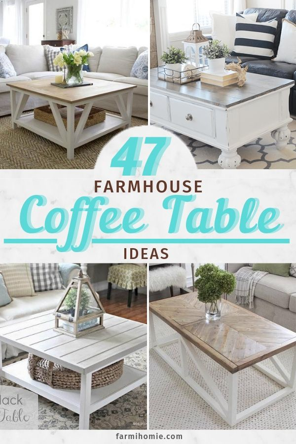 47 Creative Farmhouse Coffee Table Décor Ideas - FarmiHomie - Home Decor and Home Improvement