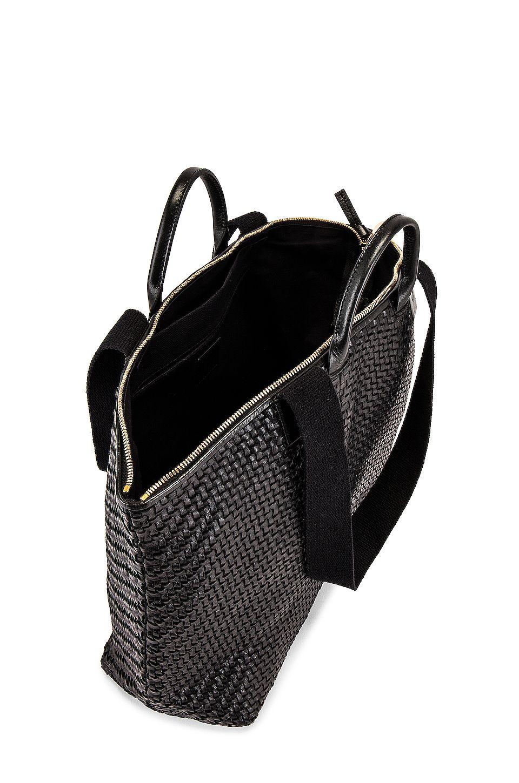 Clare V. Le Zip Sac Bag in Black Woven Zig Zag, #Affiliate, #SPONSORED, #Zip, #Le, #Bag, #Sac