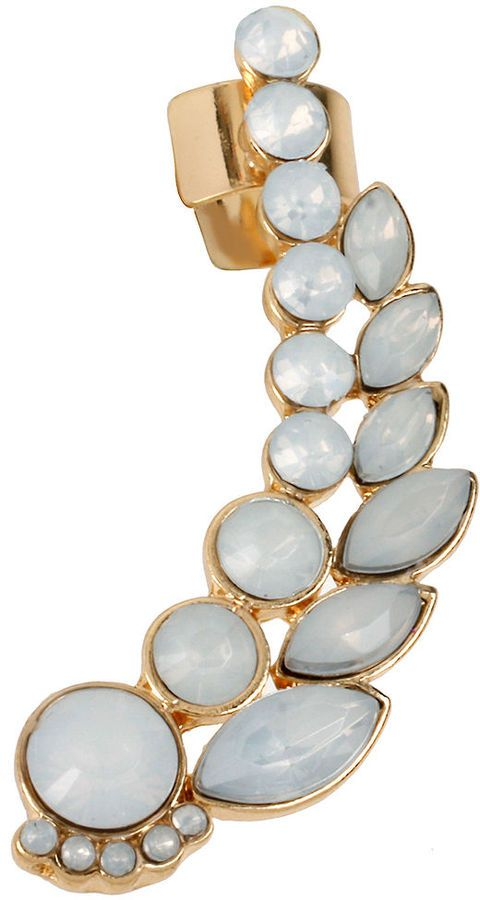 83992d7d061 Steve Madden Gold-Tone White Crystal Ear Cuff on shopstyle.com   The ...