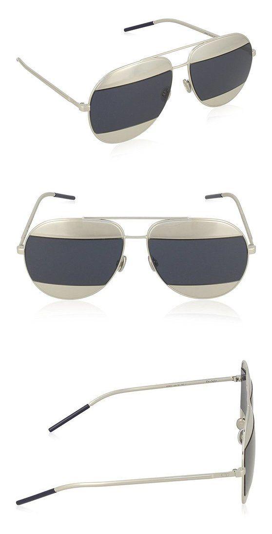 36e46ed7d9af Christian Dior - DIOR SPLIT 1, Aviator, metal, women, PALLADIUM/PALLADIUM  GREY BLUE(010/KU) #apparel #eyewear #christiandior #sunglasses #shops  #women # ...