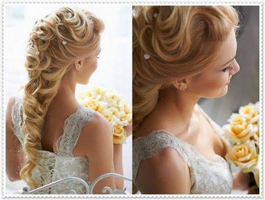 Brautfrisuren Lange Haare Geflochten Frisuren Hair Hair Styles