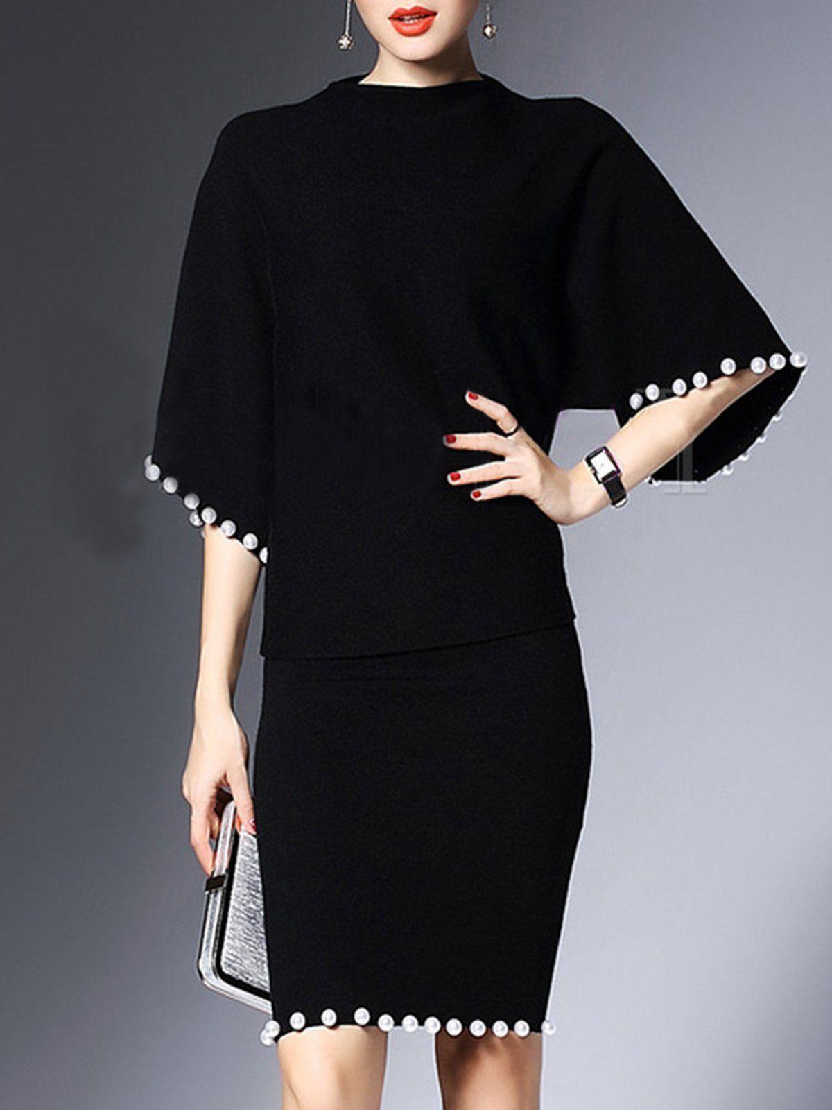 Styletoto Elegant Elegant Set For Women Black Beaded Outfits Styletoto Fashion Jumpsuit Shopping Clothes