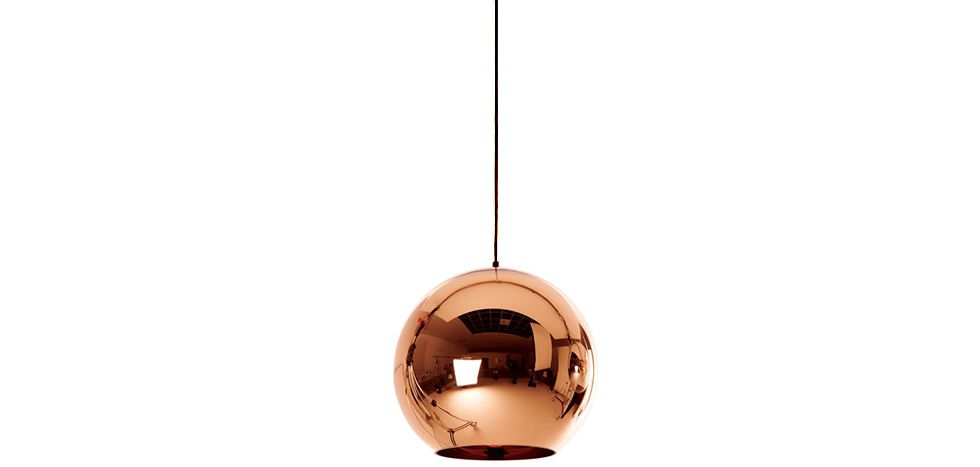 Lampe Suspension Copper Shade Tom Doyle Style 25 Cm Metal Chrome Hangeleuchte Lampe Licht