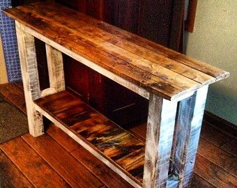 Lovely Custom Made 4 U/Console Table////muted Colors Or Rustic Sofa