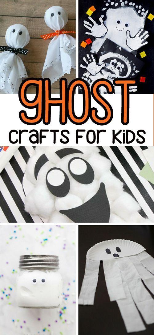 50+ Halloween Crafts for Kids Pinterest Ghost crafts, Halloween - halloween decorations for kids to make
