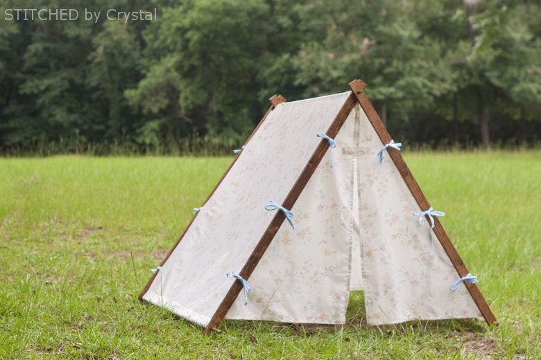 DIY Collapsible Fabric Play Tent for kids! --- Make It and Love It & DIY Collapsible Fabric Play Tent for kids! --- Make It and Love It ...