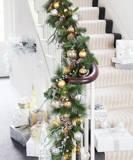 Rampe d\'escalier noel   Home Decoration   Pinterest   Christmas ...