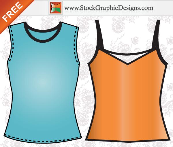 Apparel Ladies Sleeveless Shirt Template Free Vector Shirt Template Apparel Vector Free