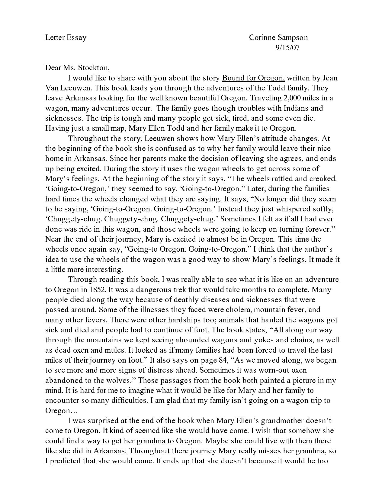 Writer's block college essay